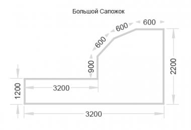 Балкон П-3М большой сапожок