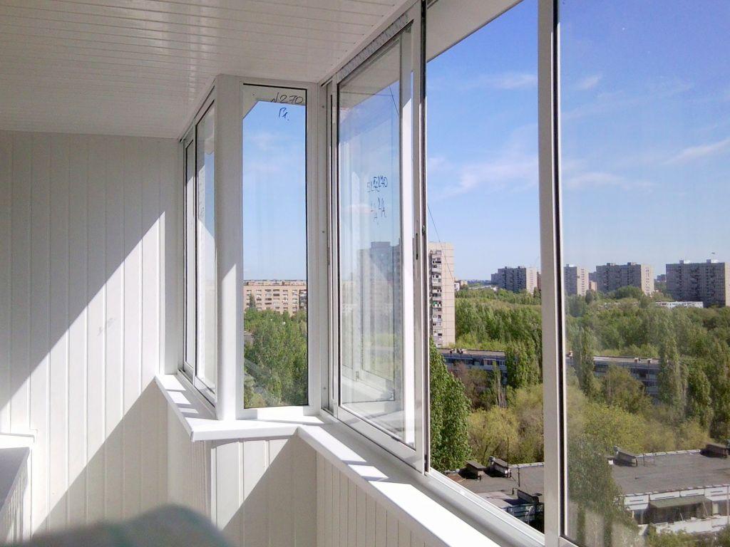 Остекление балконов алюминиевым профилем распашное гефест остекление балконов