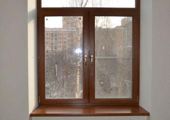 Установка ламинированного окна