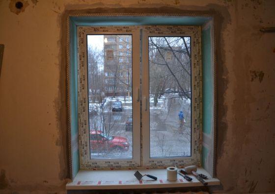 Монтаж оконной конструкции ПВХ
