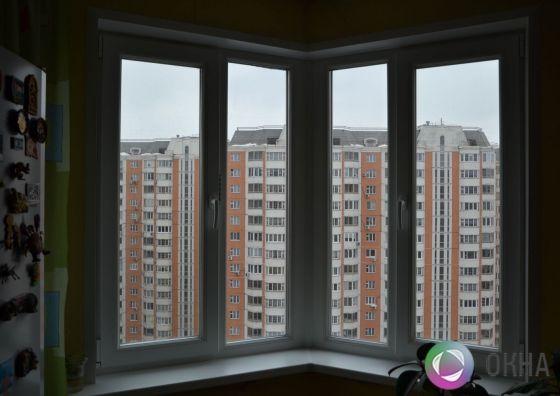 Установка углового окна