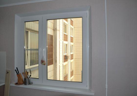 Замена окна на кухне на пластиковое