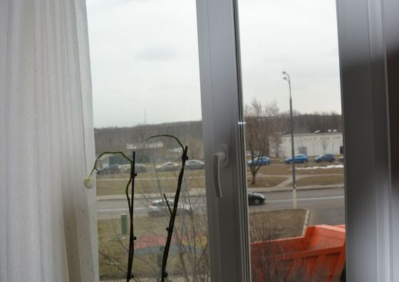 Установка двустворчатого окна
