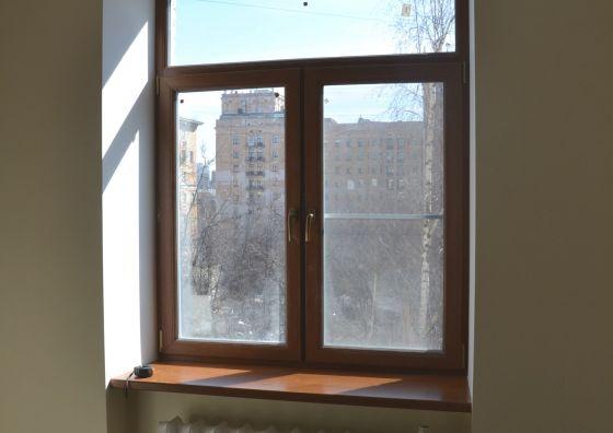 Монтаж ламинированного окна