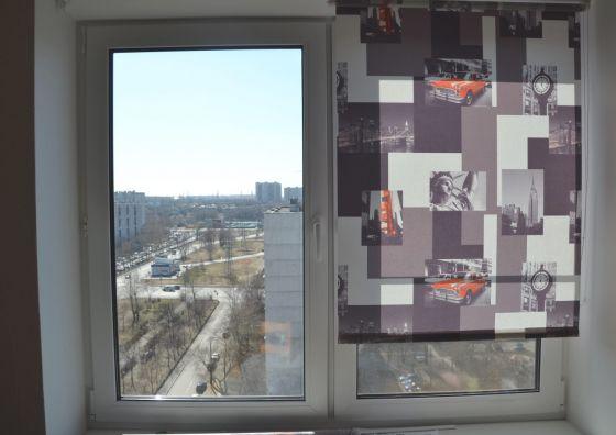 Установка окна и рулонных жалюзи